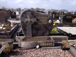 headstone with cross in Bonniconlon