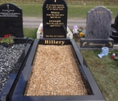 82 black granite headstone in clonmel